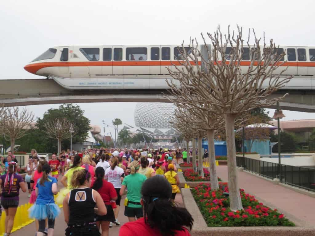 Disney Princess Half Marathon congestion in Epcot, follow these Princess Half Marathon tips for a better race.