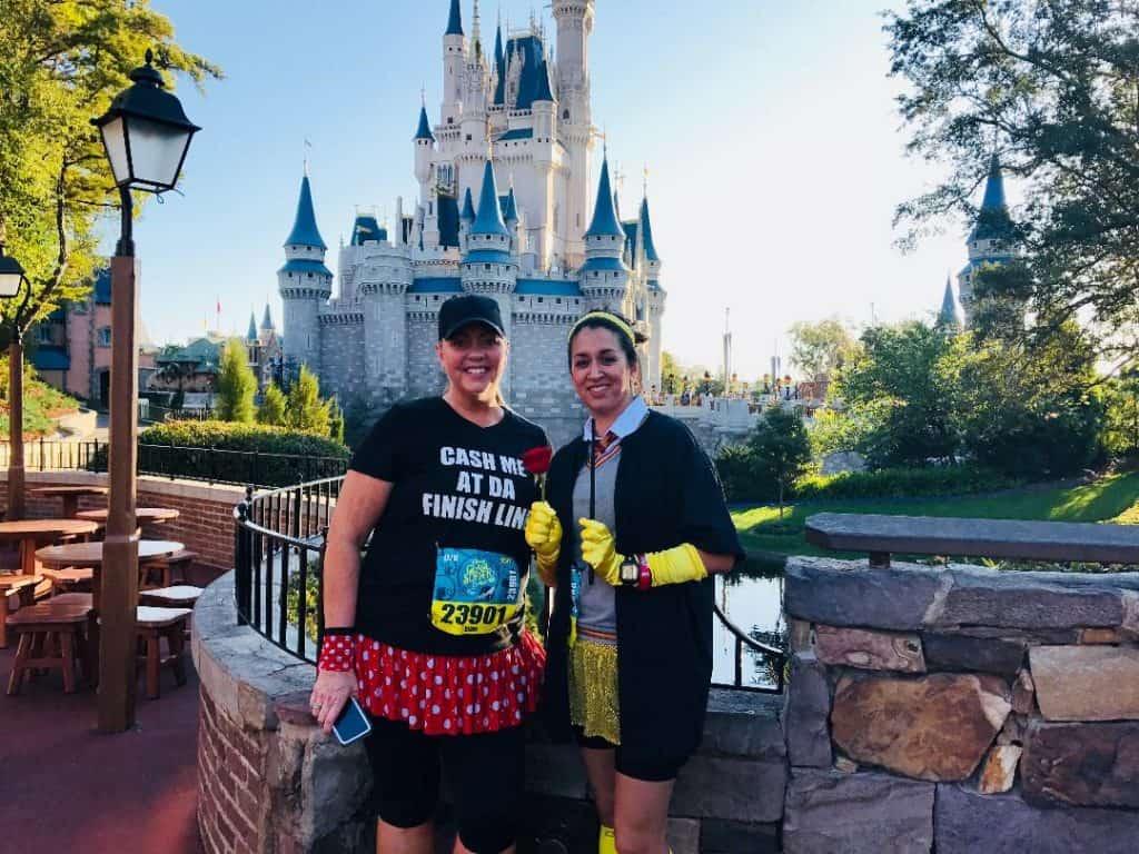 One of my Disney Princess Half Marathon Tips - take a castle picture!