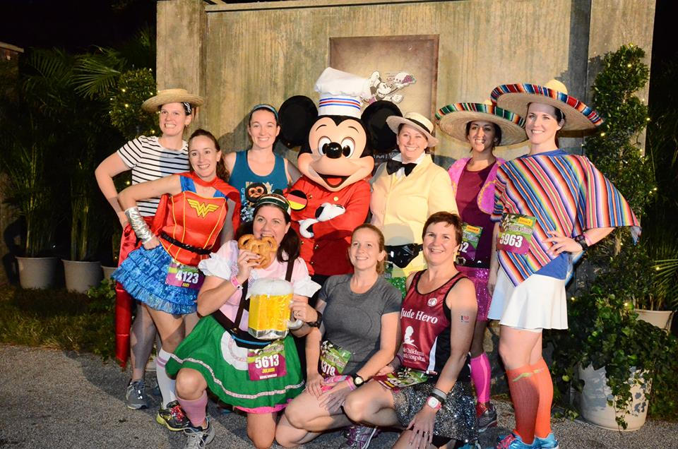 Wine and Dine Half Marathon runDisney group costume