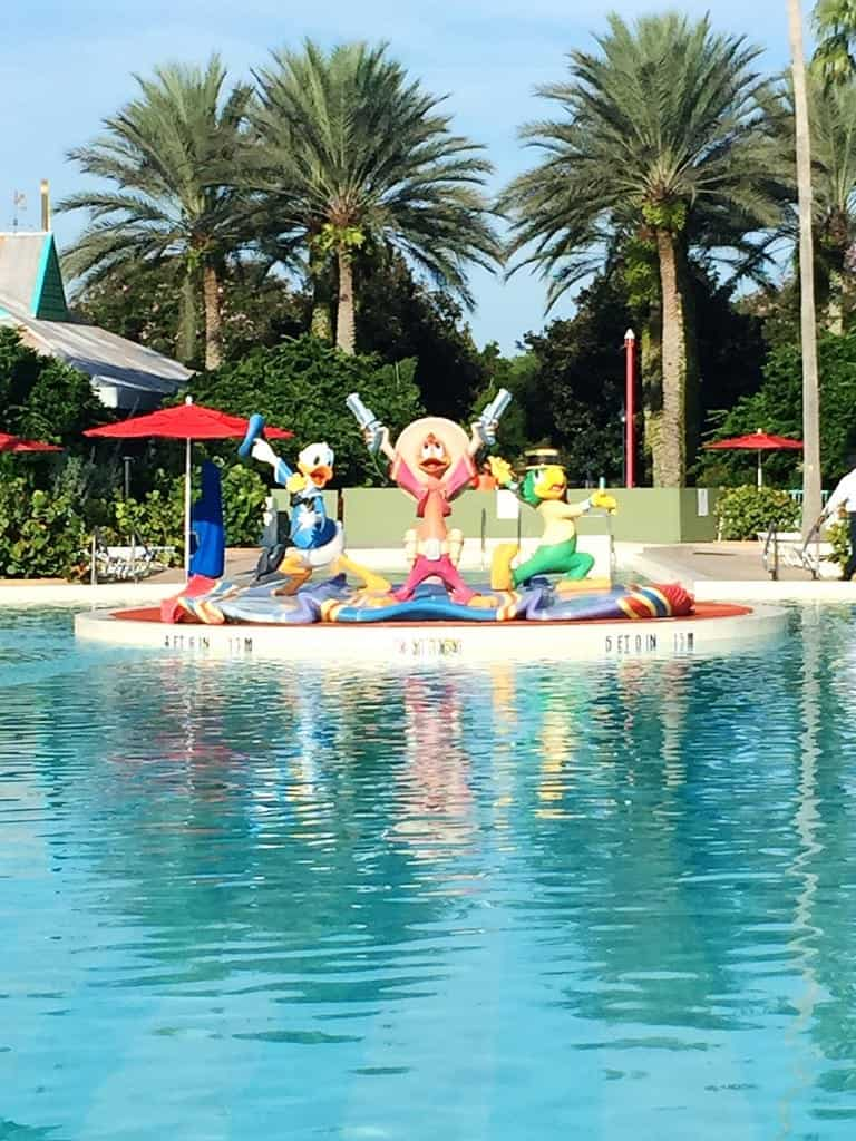 The Three Caballeros pool at the All-Star Music Disney World Family Suites