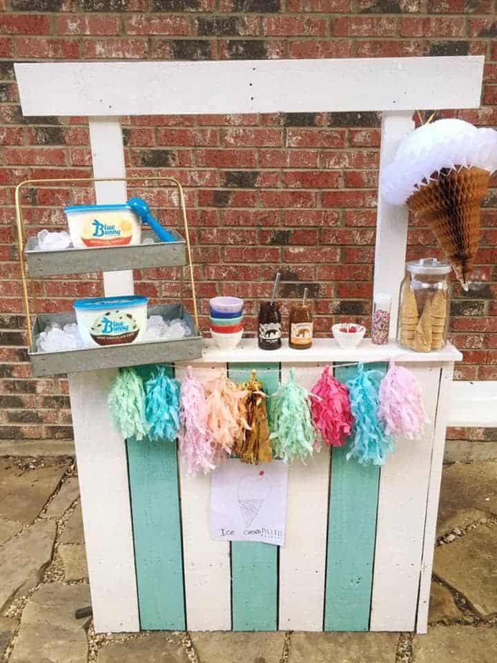 Turn a lemonade stand into an ice cream stand.