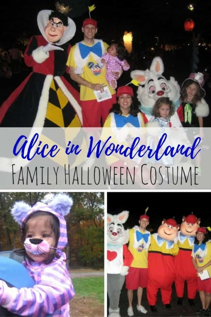 We love a good family Halloween costume! Here's how my family put together a combination of store-bought and DIY Alice in Wonderland family themed costume. We even won a couples costume contest at our friend's Halloween party!