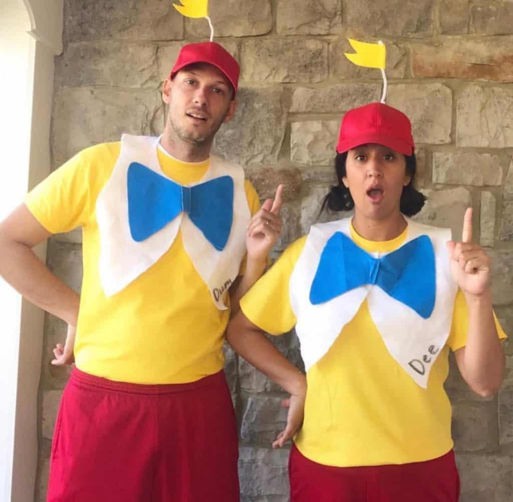 DIY Tweedle Dee and Tweedle Dum Costume for Alice in Wonderland costumes for Halloween