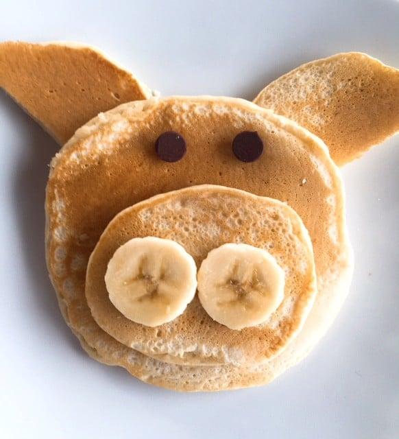 Pig-shaped pancake