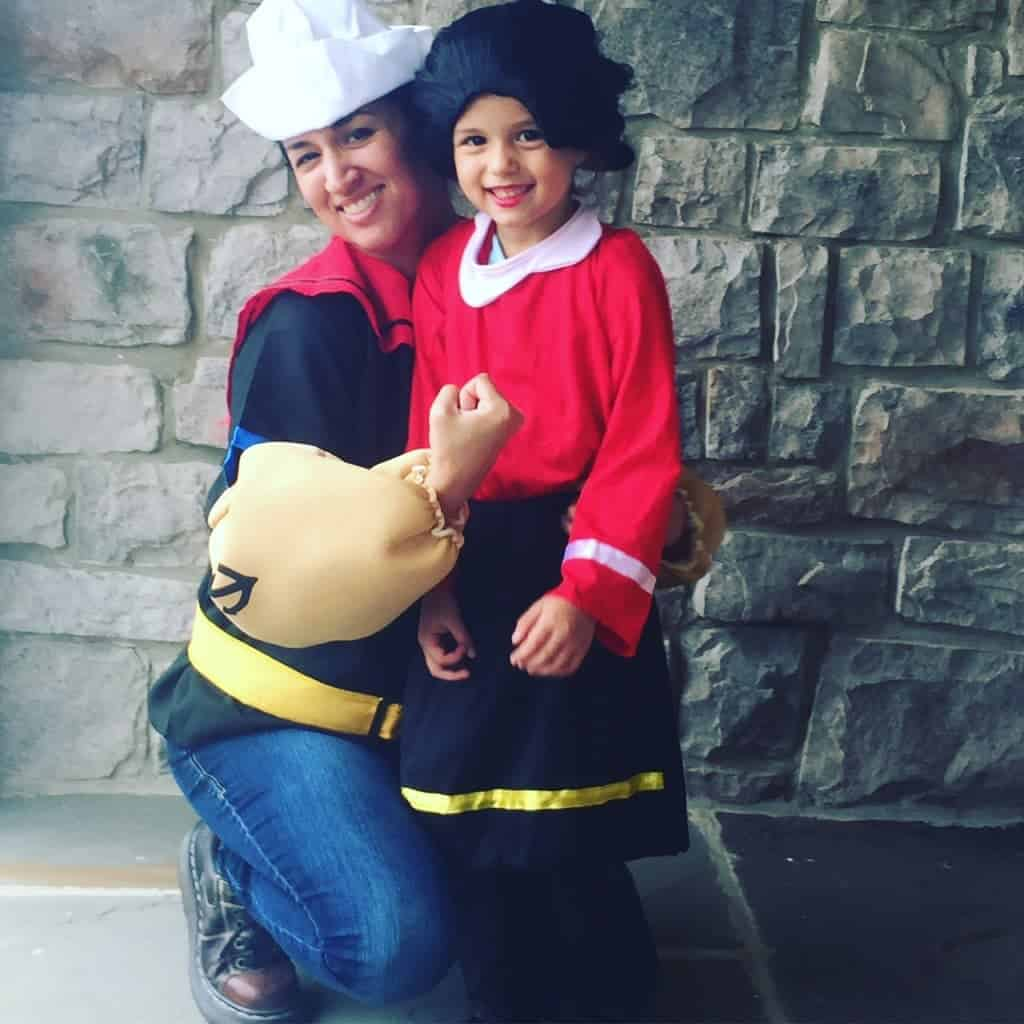 Popeye and Olive Oyl Bus Stop Costumes