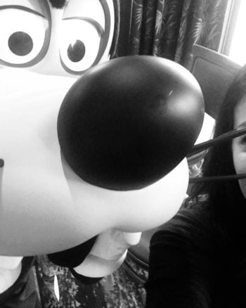 Selfies with Goofy at Disney Character Breakfast at Wyndham Lake Buena Vista