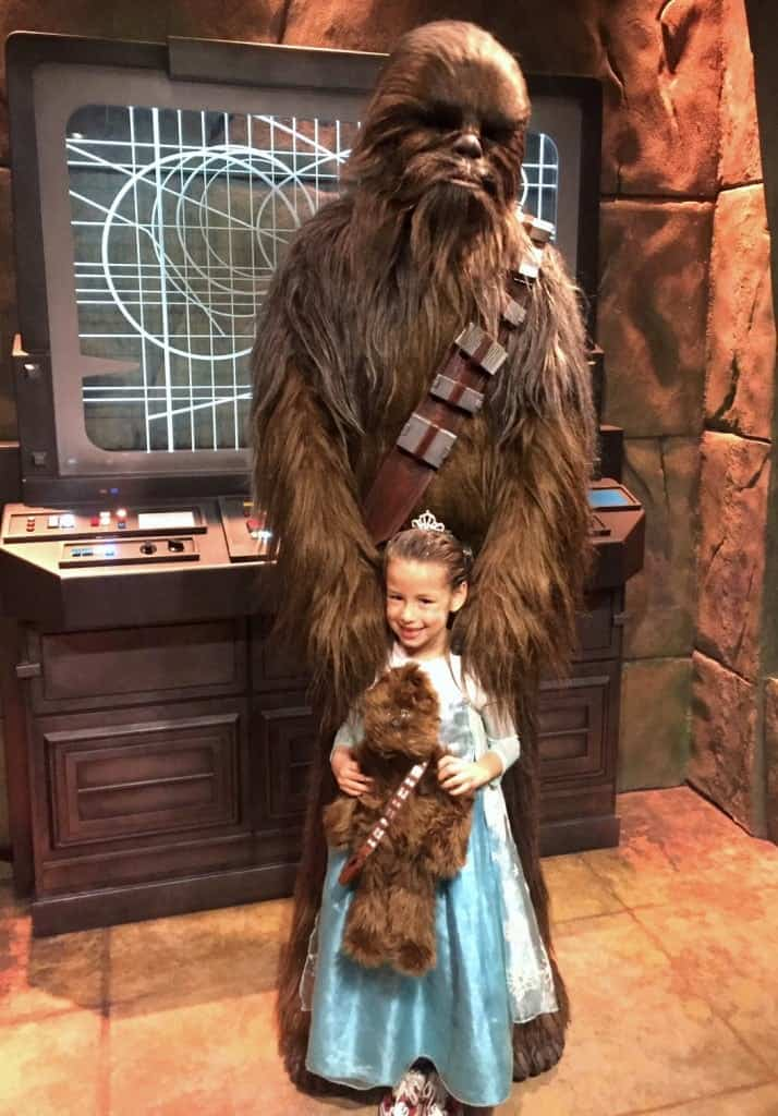 Chewbacca Meet and Greet at Hollywood Studios. Planning for toddlers at Disney World