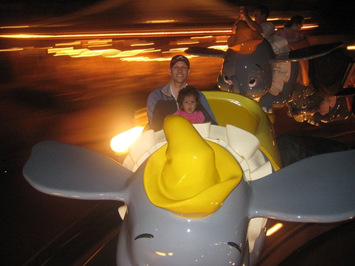 The best Disney World rides for toddlers include Dumbo the flying elephant!