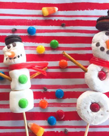 DIY Edible Donut Snowman and Marshmallow Snowman for Kids