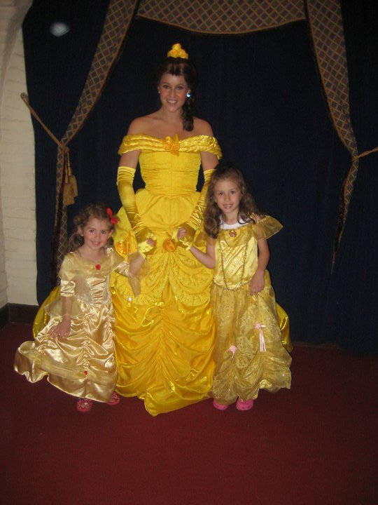 Picture with Belle at Akershus Royal Banquet Hall in Epcot