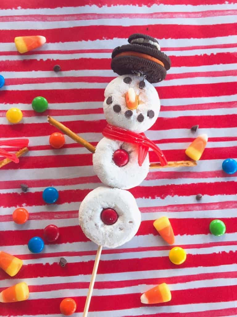 Edible DIY Donut Snowman
