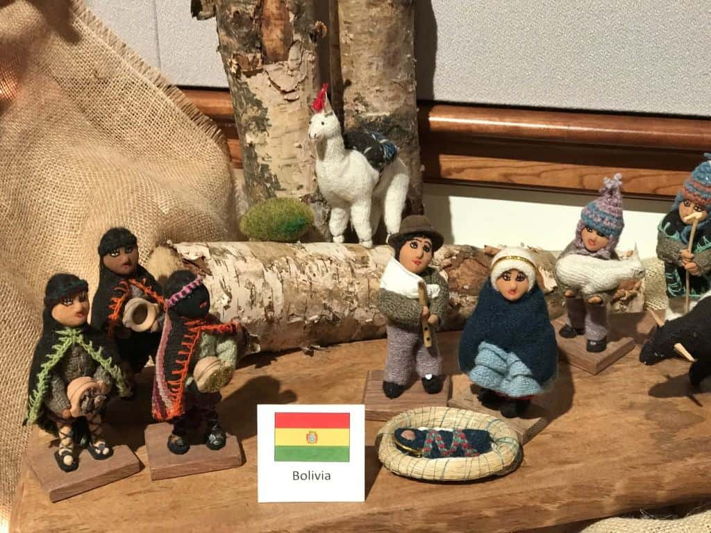 international crèches and nativity set from Bolivia in the Washington D.C. Temple Festival of Lights
