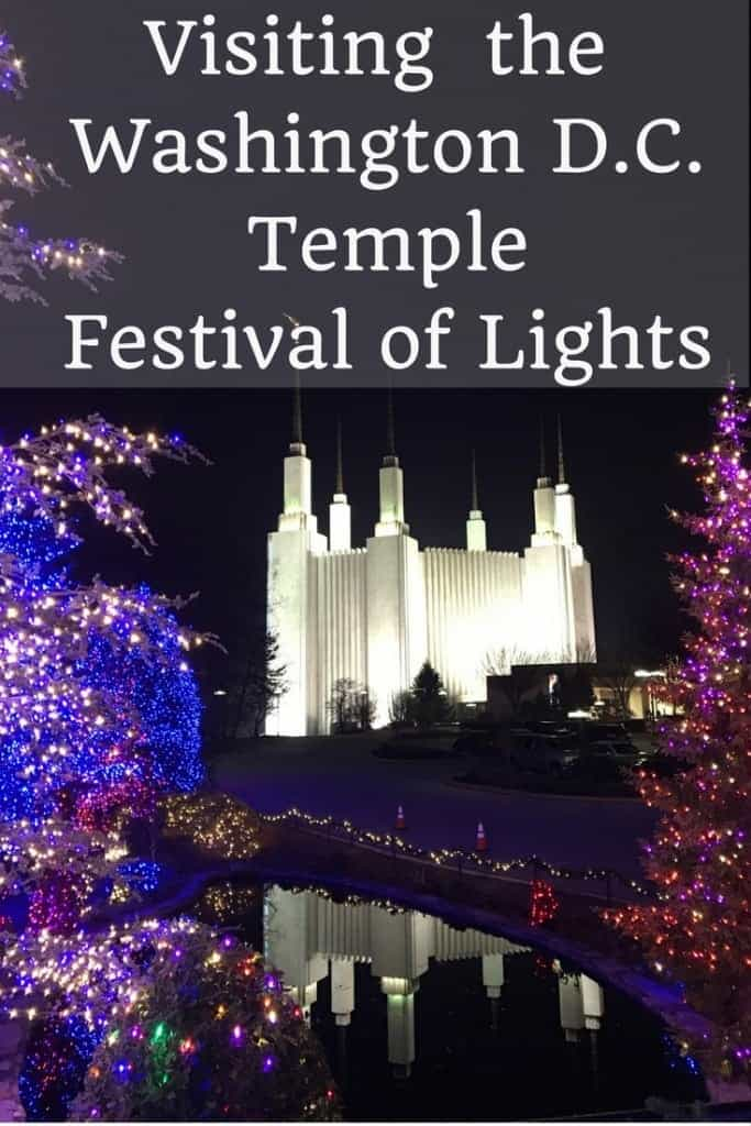 All you need to know about visiting the Washington D.C. Temple Festival of Lights. Perfect for holiday travel in the Virginia, Maryland, and DC area. Beautiful holiday lights perfect for family travel and travel with kids!
