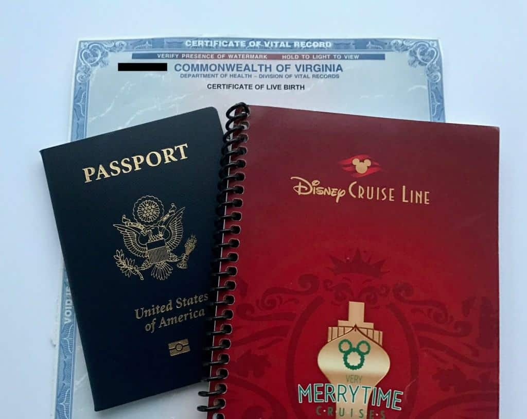 Disney Cruise Line Documentation requirements. Do you need a passport for a Disney Cruise?