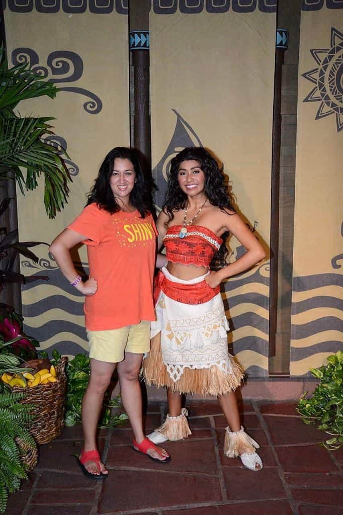 Meet and Greet with Moana at Disney World in the Enchanted Tiki Room