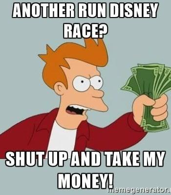 RunDisney Race Registration Meme
