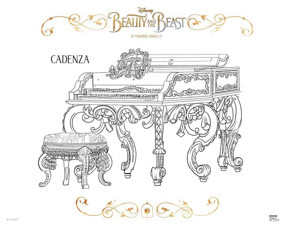 Beauty and the Beast Coloring Pages - Cadenza