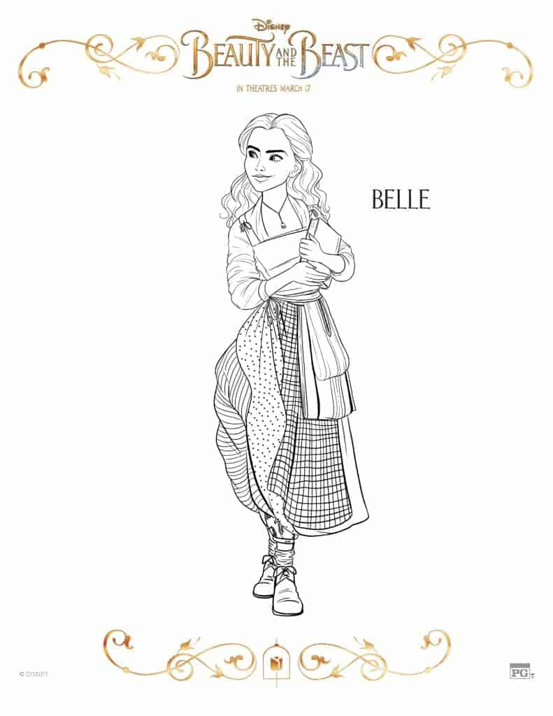 Belle Coloring Page from Beauty and the Beast