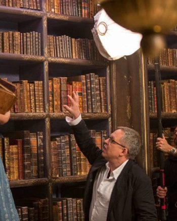 Bill Condon and Emma Watson work together in Beauty and the Beast.