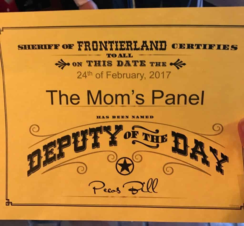 Deputy of the Day Certificate when you experience the Secret Disney Nachos at Pecos Bill!