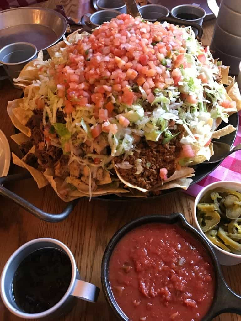 You can request toppings on the side when you order the Nachos Rio Grande at Pecos Bill!