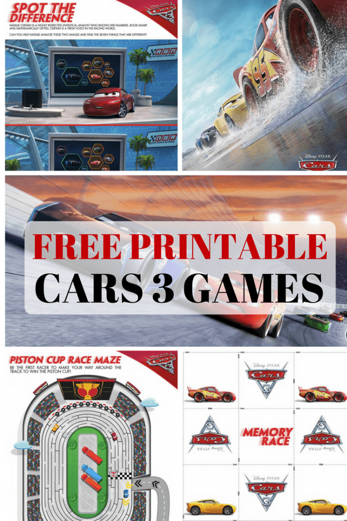 Get your free printable Cars 3 games here! You can download these Cars 3 activity sheets for your kids that include a maze, spot the difference game, and a memory game! All for free! Ka-Chow!