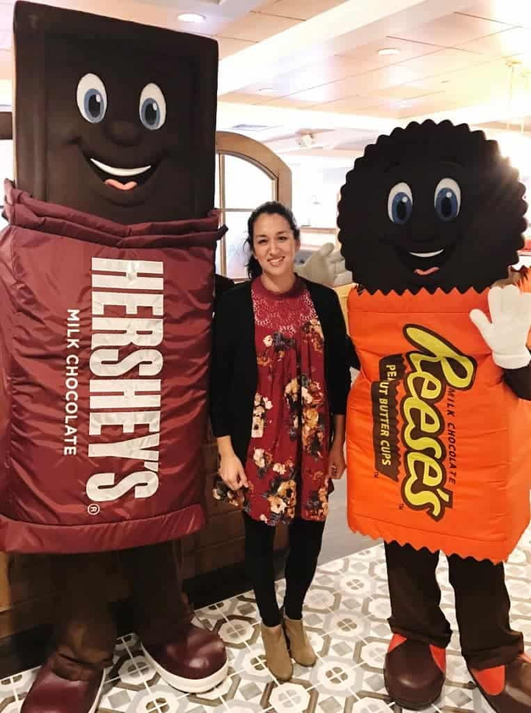 Get your picture taken with Hershey Characters in the lobby of Hershey Lodge.