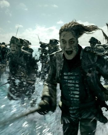 Javier Bardem plays a mean pirate in Pirates of the Caribbean: Dead Men Tell No Tales.