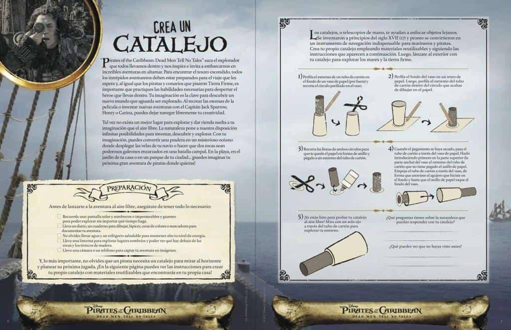 Crea un catalejo con un paquete de actividades de Pirates of the Caribbean: Dead Men Tell No Tales.