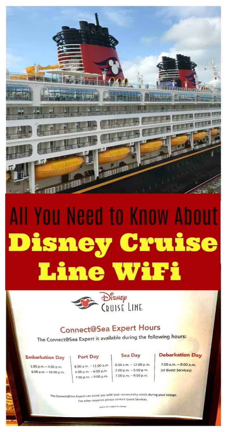 Tips and everything you need to know about how to connect to the internet on Disney Cruise Line! Are you going on the Disney Dream, Disney Magic, Disney Fantasy, or Disney Wonder? You'll want to know how much WiFi costs before you board!
