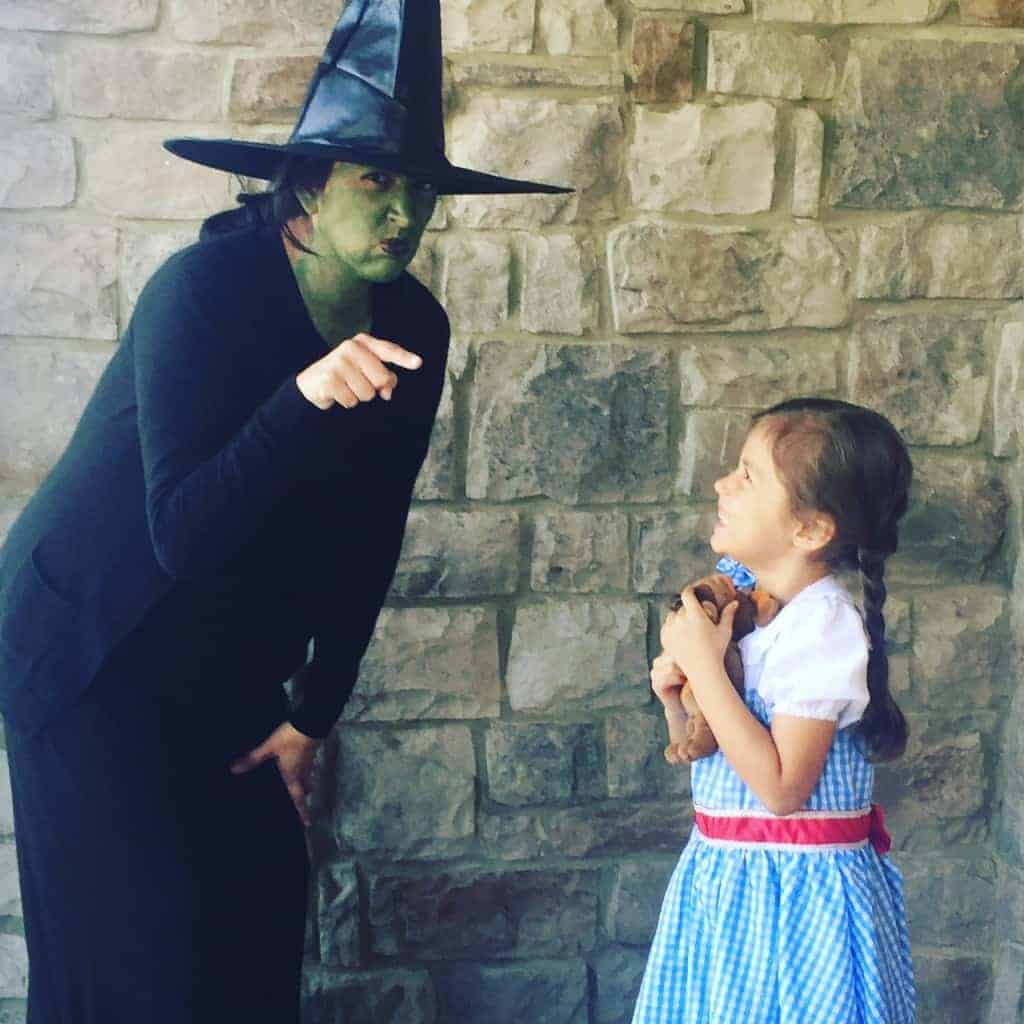 Check out our easy Dorothy and Wicked Witch costumes from the Wizard of Oz!