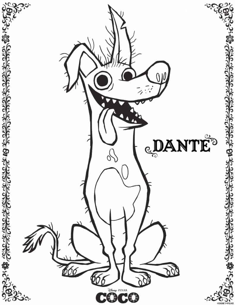 Dante, el perro, en la pelicula Coco, es mi favorito!