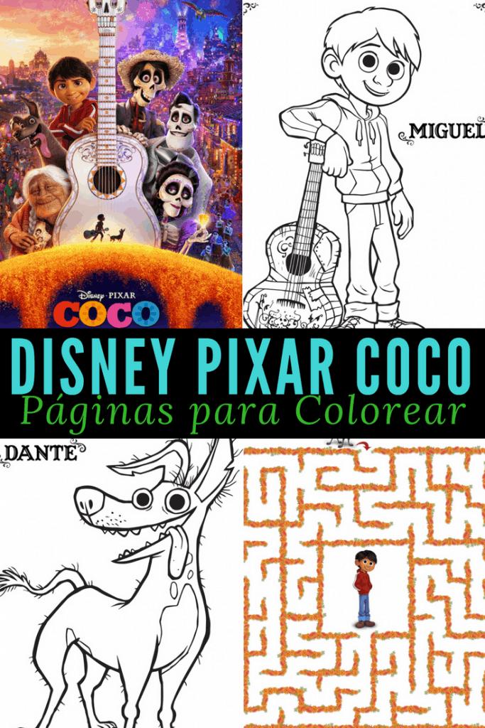 Paginas Para Colorear De La Pelicula Coco Disney Coco Coloring Pages
