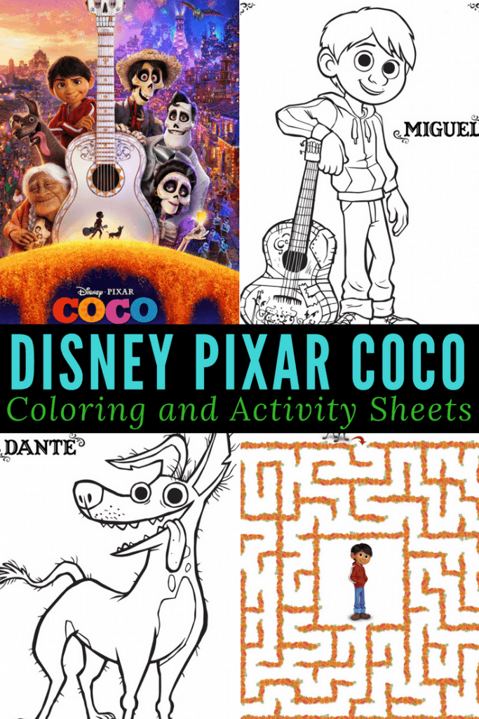 If you're excited for Disney Pixar's Coco, then here are some free printable coloring and activity sheets for kids! They are great for car rides, doctors visits, road trips, and just some non-screen time. Who's your favorite Coco character? Miguel, Dante, Ernesto, or Hector?