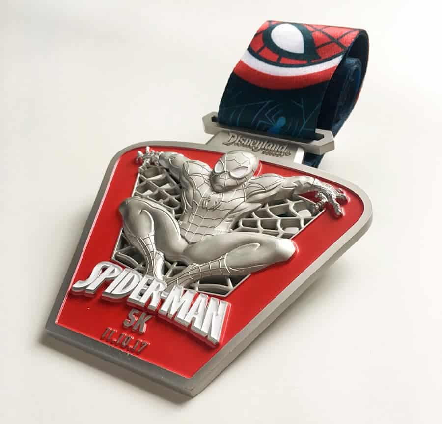 The Spider-Man 5K medal for runDisney's Super Heroes Half Marathon Weekend. Are you running any races?
