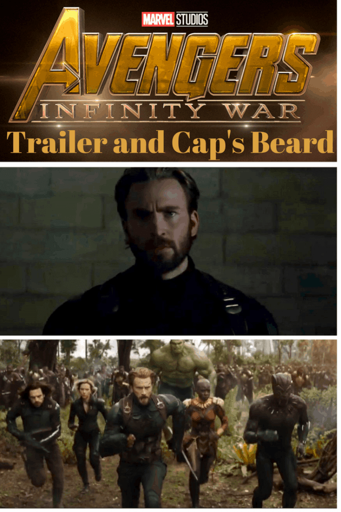 Marvel fans, watch the new Avengers: Infinity War trailer! Then let's discuss Captain America's beard, please. Bearded Cap rocks and while I love Thor, Bucky, Black Panther, and Black Widow, Cap's beard steals the spotlight.