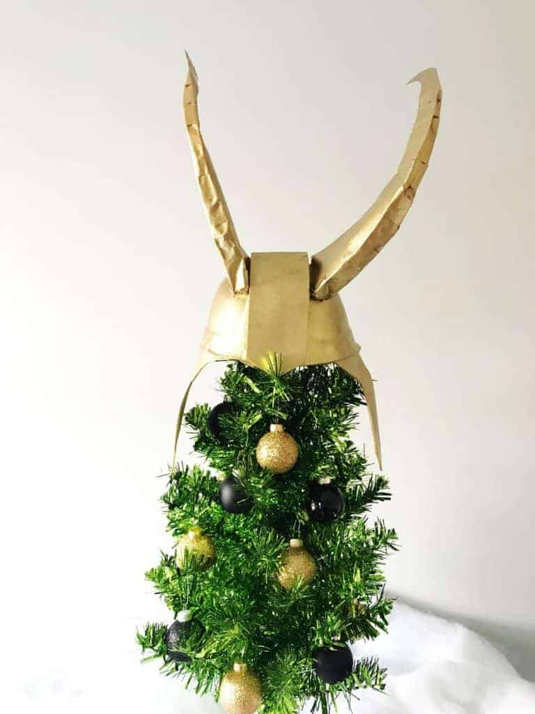 Make a Loki Christmas Tree for these DIY Disney Christmas Trees for under $20!