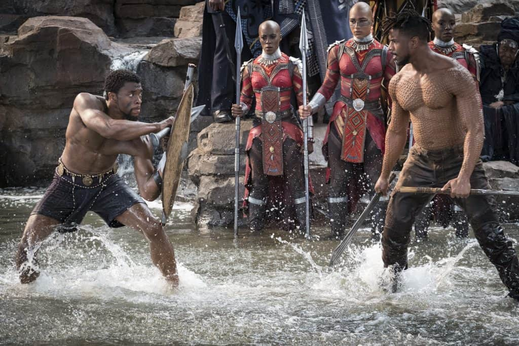 Is Black Panther ok for kids? No nudity unless you count shirtless Michael Jordan and Chadwick Boseman.