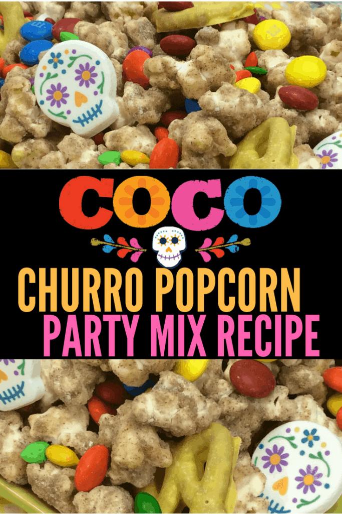 Pixar Coco Popcorn recipe! Great snack for Coco parties, Day of the Dead parties, and Dia De Los Muertos celebrations.