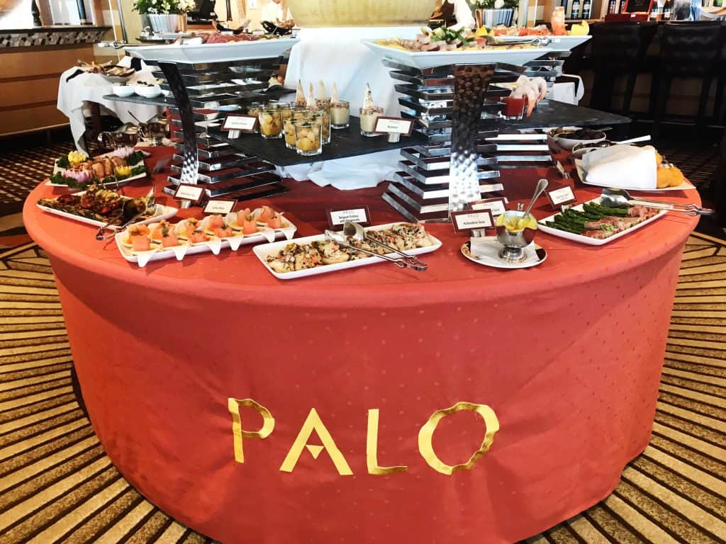 Enjoy a variety of delicious foods at the Palo Brunch buffet.