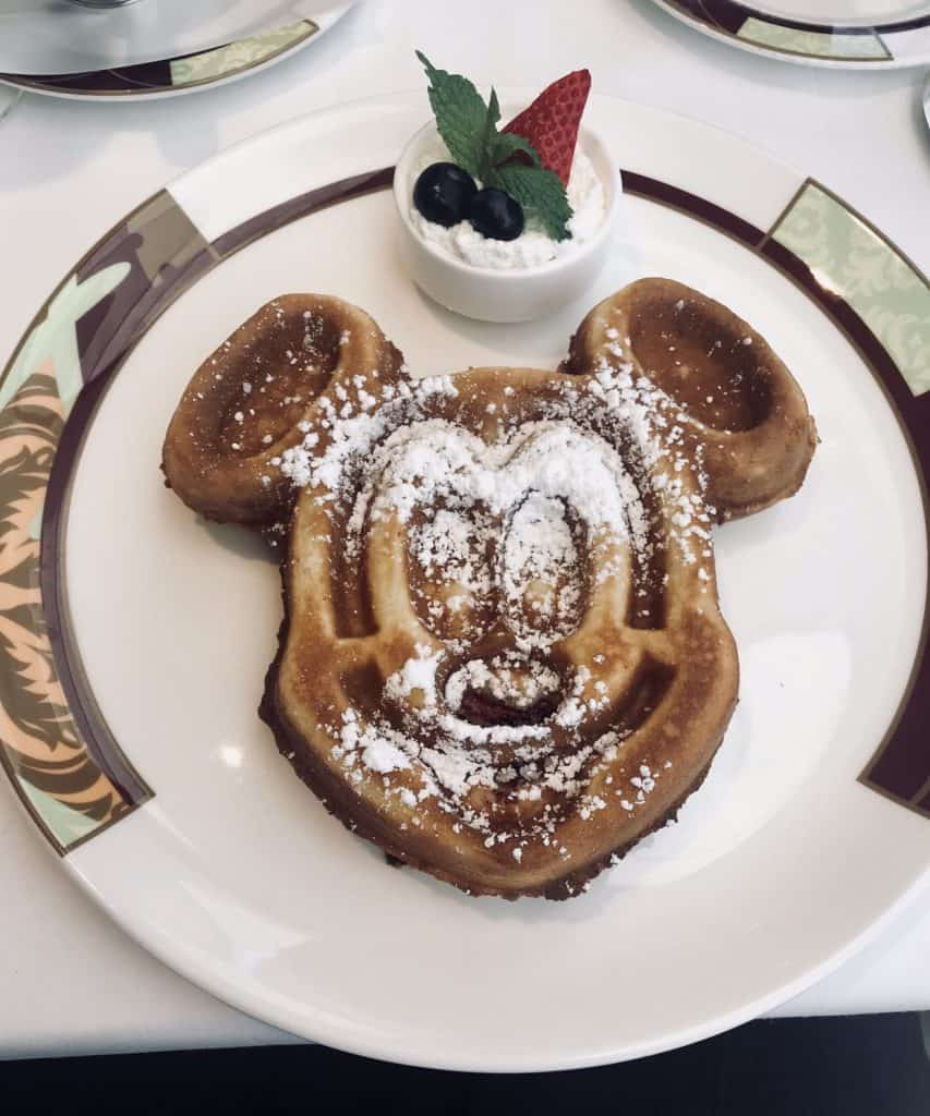 You can also find a staple at Palo Brunch - Mickey waffle!