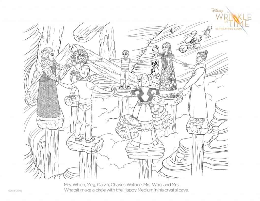 Free Printable A Wrinkle in Time Coloring Page