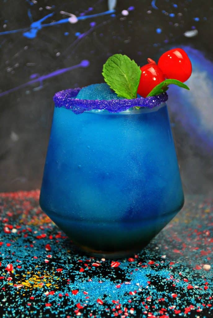 If you're having a Black Panther party, then make this frozen drink recipe for your guests!