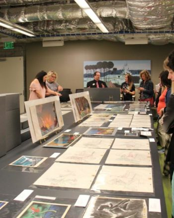 Take a little tour of the Disney Animation Research Library!