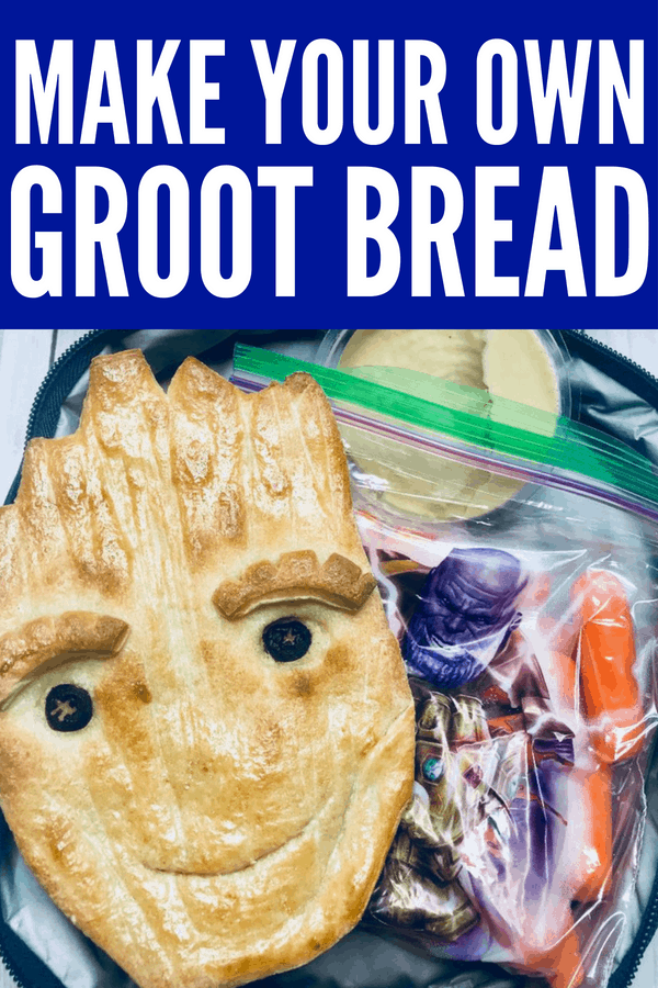 Make your own Teen Groot Bread for Avengers parties, school lunches, summer picnics, or Marvel movie nights! This easy Disneyland copycat recipe of Groot Bread is easy and quick where kids can help and make their own Groots. #AvengersInfinityWar #Groot