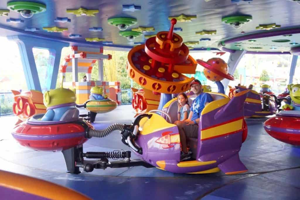 Alien Swirling Saucers is great for the whole family at Toy Story Land.