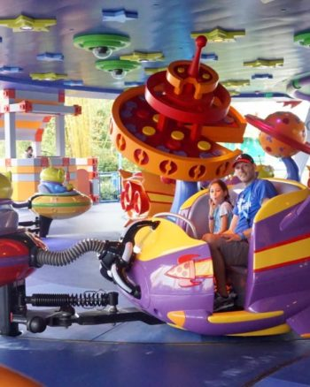 Alien Swirling Saucers is great for the whole family at Toy Story Land including toddlers at Walt Disney World.