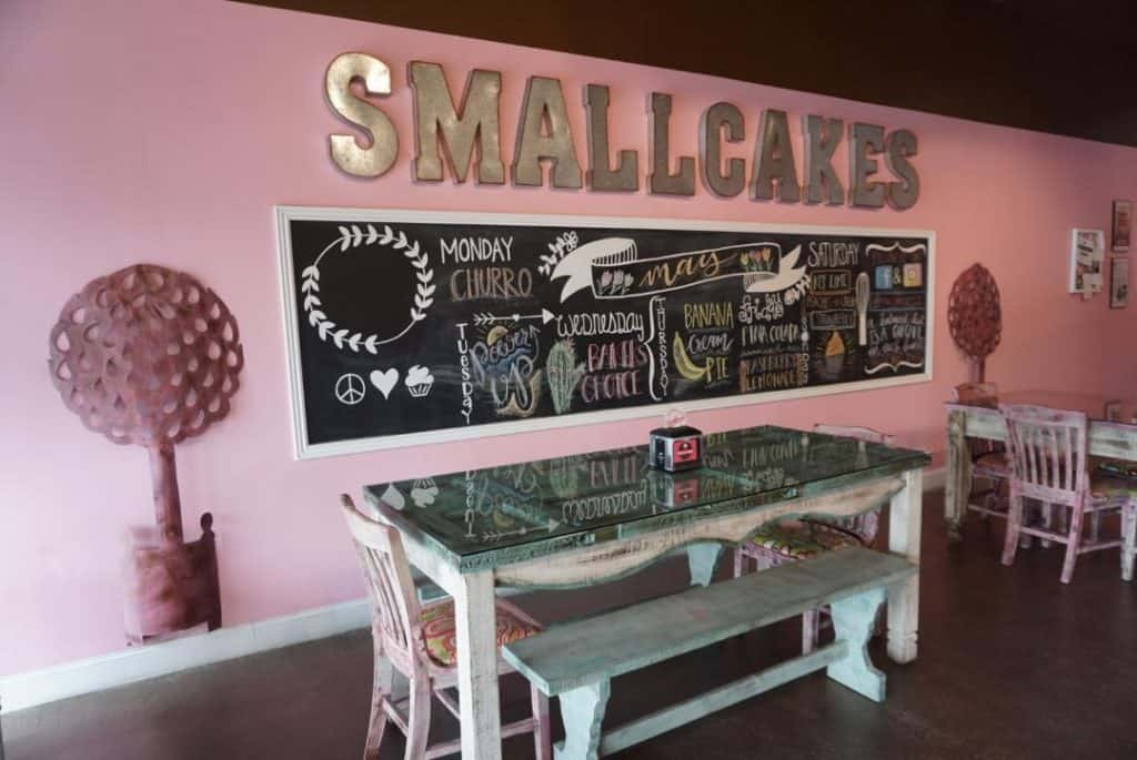 Smallcakes Cupcakes in St. Simons is pink and lovely!