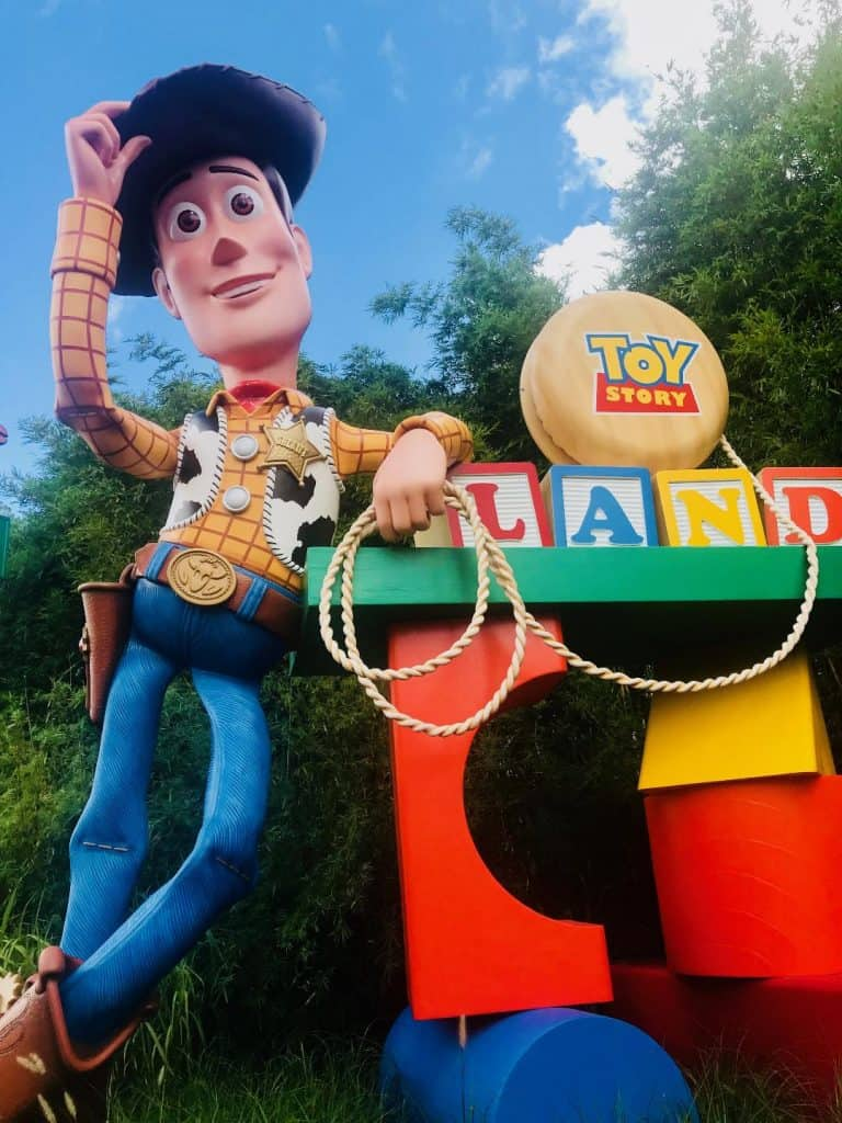 Sheriff Woody welcomes you to Toy Story Land for Kids.