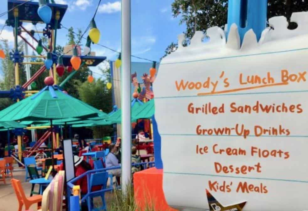 Woody's Lunchbox Menu at Toy Story Land